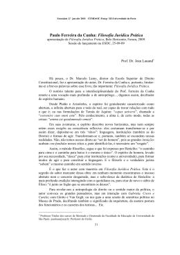 Paulo Ferreira da Cunha: Filosofia Jurídica Prática