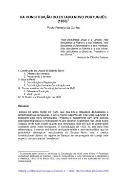 da constituição do estado novo português (1933)