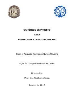 Critériios de Projeto para Moinhos de Cimento Portland