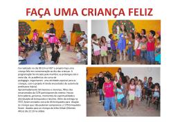 Foi realizado no dia 09.10 na FEST o projeto Faça uma criança feliz