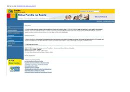 Nota técnica - Portal do Bolsa família
