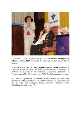 Foi realizado nesta segunda-feira (3/12) o II Prêmio Destaque em