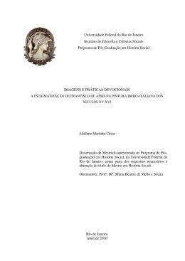 Imagens e práticas devocionais - Centro de História da Arte – UFRJ
