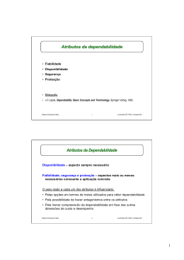 Atributos da dependabilidade Atributos da Dependabilidade