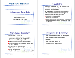 Atributos de Qualidade das Arquitectura de Software