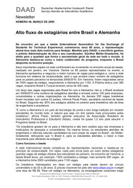 Alto fluxo de estagiários entre Brasil e Alemanha