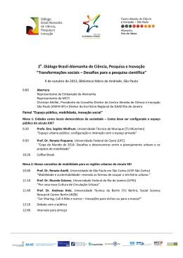 2 . Diálogo Brasil-Alemanha de Ciência, Pesquisa e Inovação