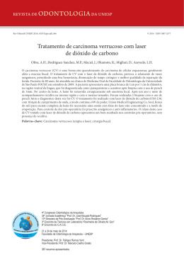 Tratamento de carcinoma verrucoso com laser de dióxido de carbono