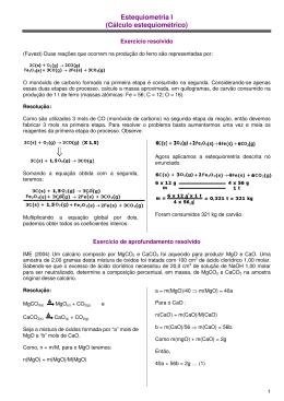 Estequiometria I (Cálculo estequiométrico)