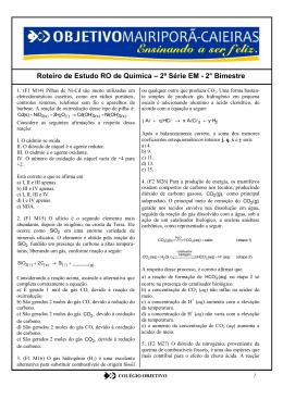 Quimíca RO - Portal Colégio Objetivo Mairiporã