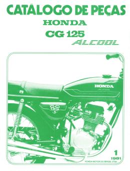 CG125 Álcool - 1981 - Catálogo de peças