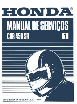 Manual de serviço da CBR 450
