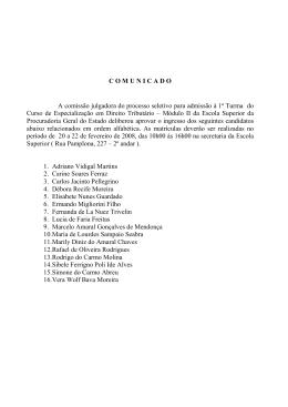 Direito Tributário - Procuradoria Geral do Estado de São Paulo