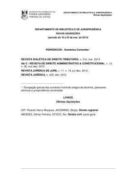 Março 2013 - Tribunal de Justiça do Estado do Rio Grande do Sul