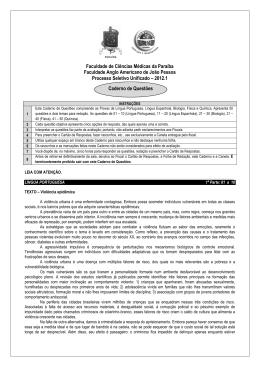 Prova 2012.1 - língua: Espanhol - Faculdade de Ciências Médicas