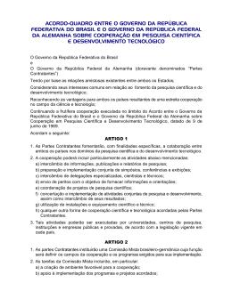Acordo-Quadro entre o Governo da República Federativa do Brasil