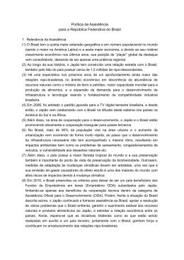 Política de Assistência para a República Federativa do Brasil