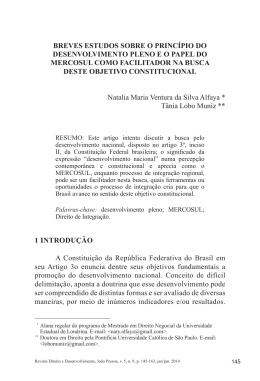 1 INTRODUÇÃO A Constituição da República Federativa do Brasil