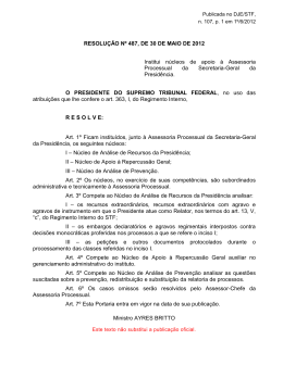 resolucao stf 487-2012 - Supremo Tribunal Federal
