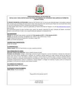 prefeitura municipal de pejuçara /rs edital 03/2011 para contratação