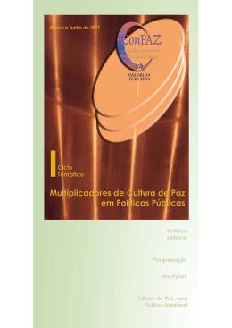 Folder ciclo Final 1A.pmd - Comitê da Cultura de Paz