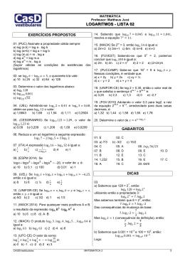 02. Logaritmos e Funções Logaritmícas