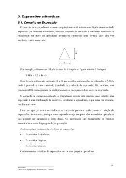 5. Expressões aritméticas