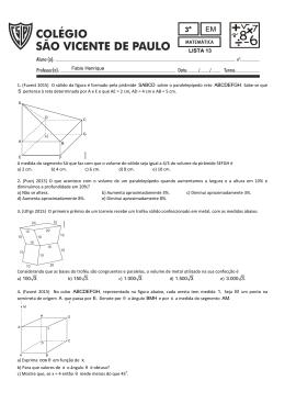 a) 100 3. b) 150 3. c) 1.000 3. d) 1.500 3. e) 3.000 3. AM. LISTA 13