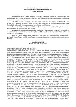 EPE RESULTADO FINAL IBANÊS CÉSAR CÁSSEL, Diretor de