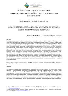 análise técnica-econômica com aplicação do hdm-4 na