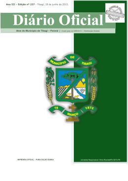 0237/2015 - Prefeitura Municipal de Tibagi