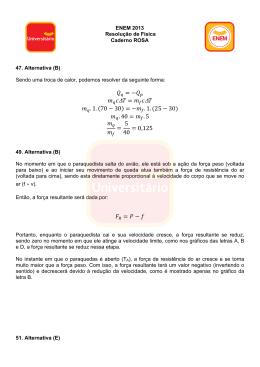 ENEM 2013 - Resolução de Física