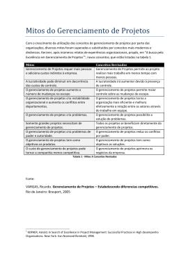 Mitos do Gerenciamento de Projetos