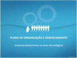 Plano de organização e gerenciamento