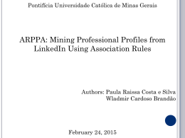 Mining Professional Profiles from LinkedIn Using Association Rules