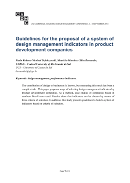 Guidelines for the proposal of a system of design