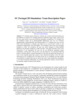FC Portugal 2D Simulation: Team Description Paper