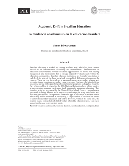 Academic Drift in Brazilian Education