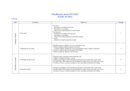 Planificação anual 2012/2013 Estudo do Meio