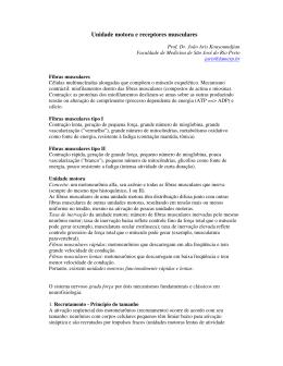 UNIDADE MOTORA E RECEPTORES MUSCULARES