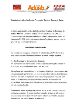 Procurador Geral do Estado da Bahia