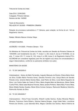 Relação nº 30/2005 - Tribunal de Contas da União