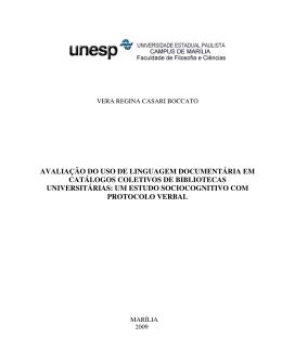 avaliação do uso de linguagem documentária em catálogos