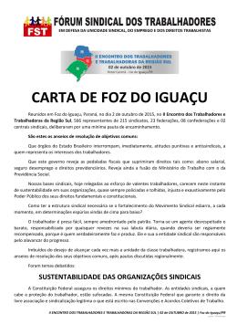 CARTA DE FOZ DO IGUAÇU