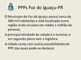 - Infraestrutura e PPPs