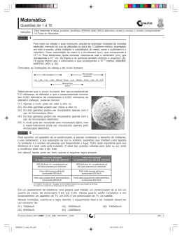Código 24C Verde - Processo Seletivo Vestibular 2011 UNEB