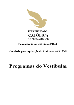Programas do Vestibular