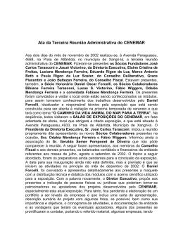 Ata da Terceira Reunião Administrativa do CENEMAR