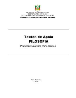 Textos de Apoio FILOSOFIA - Portal Falando de História