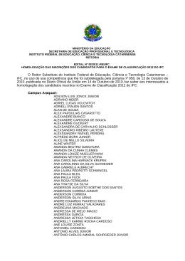 Lista de Candidatos Homologados